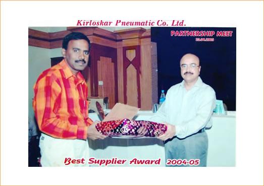 Kirloskar Pneumatic Co. Ltd. Best Supplier Award 2004-2005